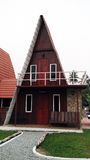 Casa del triángulo imagen de archivo