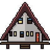 Casa del triangolo di arte del pixel di vettore Fotografia Stock