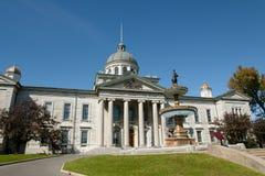Casa del Tribunal del Condado de Frontenac - Kingston - Canadá imagen de archivo