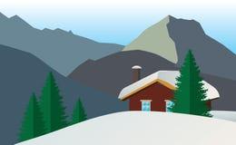 Casa del uso en las montañas libre illustration