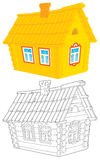 Casa del villaggio illustrazione di stock