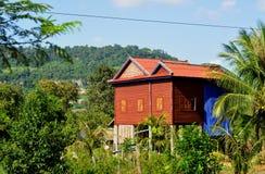 Casa del villaggio in Cambogia Fotografia Stock Libera da Diritti