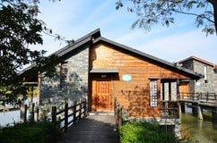 Casa del villaggio di festa Immagini Stock