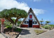 Casa del villaggio di Santana sull'isola del Madera Immagini Stock Libere da Diritti