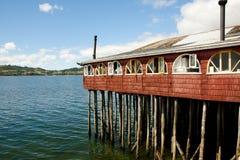 Casa del zanco - Castro - Chile imagen de archivo libre de regalías