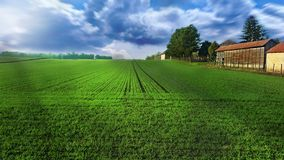 Casa dell'azienda agricola Fotografie Stock