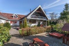 Casa dell'azienda agricola in Danimarca fotografia stock libera da diritti