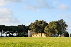 Casa dell'azienda agricola del paese Fotografie Stock