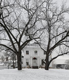 Casa dell'azienda agricola di inverno Fotografie Stock