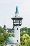 Casa dell'elefante in zoo Budapest, Ungheria, torre facente un giro turistico Fotografie Stock