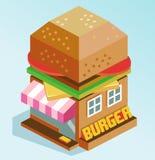 Casa dell'hamburger Immagine Stock Libera da Diritti