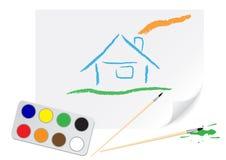 Casa dell'illustrazione Immagine Stock