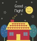 Casa della buona notte Fotografia Stock