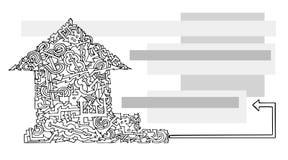 Casa della carta di visita della freccia Immagini Stock
