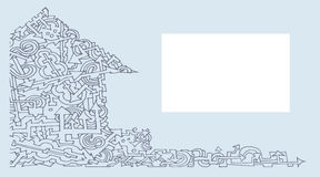 Casa della carta di visita della freccia due Immagine Stock Libera da Diritti