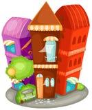 Casa della città Immagine Stock