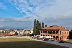 Casa della Contadinanza, dom rolnicy w Angielskiej, antycznej radzie doradczej historyczny Friuli ojczyzny parlament w Udine, obraz royalty free