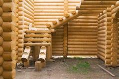 casa della costruzione di legno Fotografie Stock