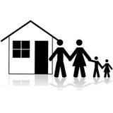 Casa della famiglia royalty illustrazione gratis