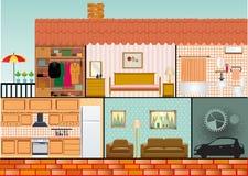 Casa della famiglia del fumetto Fotografia Stock