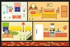 Casa della famiglia del fumetto Fotografie Stock