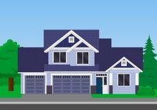 Casa della famiglia di vettore royalty illustrazione gratis