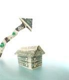 Casa della freccia del dollaro Fotografia Stock