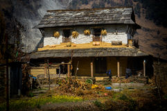 Casa della montagna dell'Himalaya Fotografia Stock