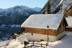 Casa della montagna di festa Fotografia Stock
