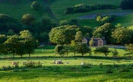 Casa della proprietà terriera in campagna inglese Immagini Stock