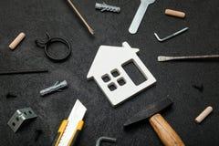 Casa della propriet? di manutenzione, rinnovamento della costruzione Soldi economici di investimento di finanza fotografia stock libera da diritti