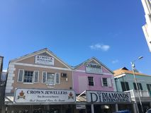 Casa della rosa arancione di Nassau Fotografia Stock