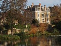 Casa della Sarthe del sur di Juigne, Francia. Immagini Stock Libere da Diritti