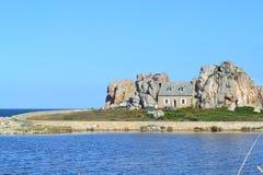 Casa della spiaggia, Francia Fotografie Stock Libere da Diritti
