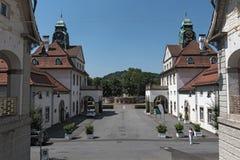 Casa della stazione termale di Sprudelhof, cattivo Nauheim, Hesse, Germania Fotografie Stock Libere da Diritti