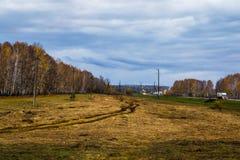 Casa della strada di autunno Fotografia Stock Libera da Diritti