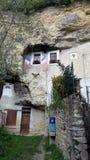 Casa della troglodita a Amboise, Loire Valley in Francia fotografie stock