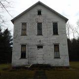 Casa della vecchia scuola nell'impresa Pensilvania fotografie stock