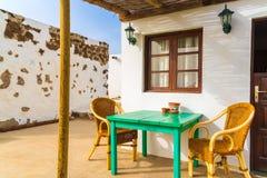 Casa delle isole Canarie tipica per i turisti Fotografia Stock Libera da Diritti