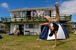 Casa delle vacanze in NZ Immagine Stock Libera da Diritti