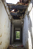 Casa demolita abbandonata Fotografie Stock