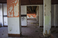 Casa demolita abbandonata Fotografia Stock