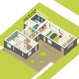 Casa dentro Fotografía de archivo libre de regalías