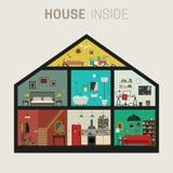 Casa dentro del interior Foto de archivo