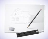 Casa desenhada Imagem de Stock