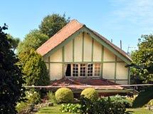 A casa desmorona no terremoto, Chrsitchurch, Nova Zelândia Imagens de Stock Royalty Free