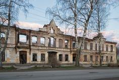 Casa después del fuego Fotografía de archivo libre de regalías