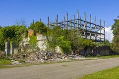 Casa destruída em Abakhasia Foto de Stock Royalty Free