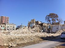 A casa destruída, ruínas Imagens de Stock