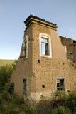Casa destruida del ladrillo Fotografía de archivo libre de regalías